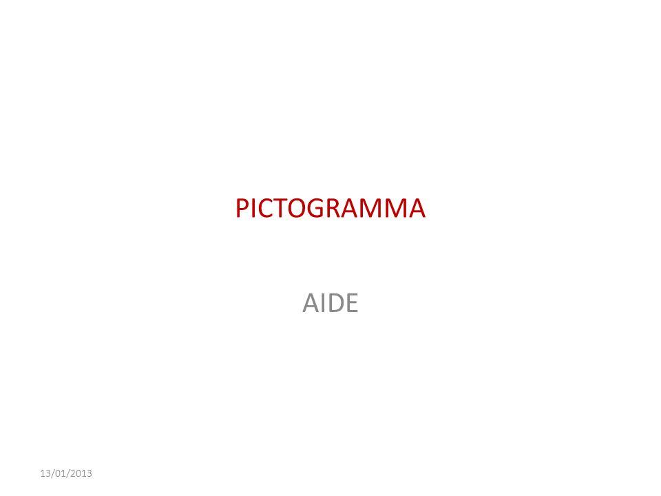 13/01/2013 PICTOGRAMMA AIDE