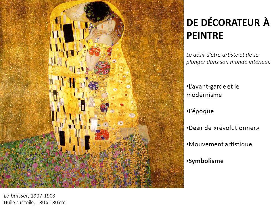 Le baisser, 1907-1908 Huile sur toile, 180 x 180 cm DE DÉCORATEUR À PEINTRE Le désir dêtre artiste et de se plonger dans son monde intérieur. Lavant-g