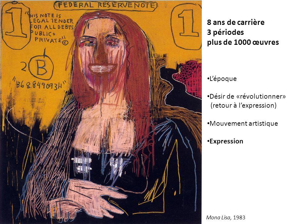 8 ans de carrière 3 périodes plus de 1000 œuvres Lépoque Désir de «révolutionner» (retour à lexpression) Mouvement artistique Expression Mona Lisa, 19