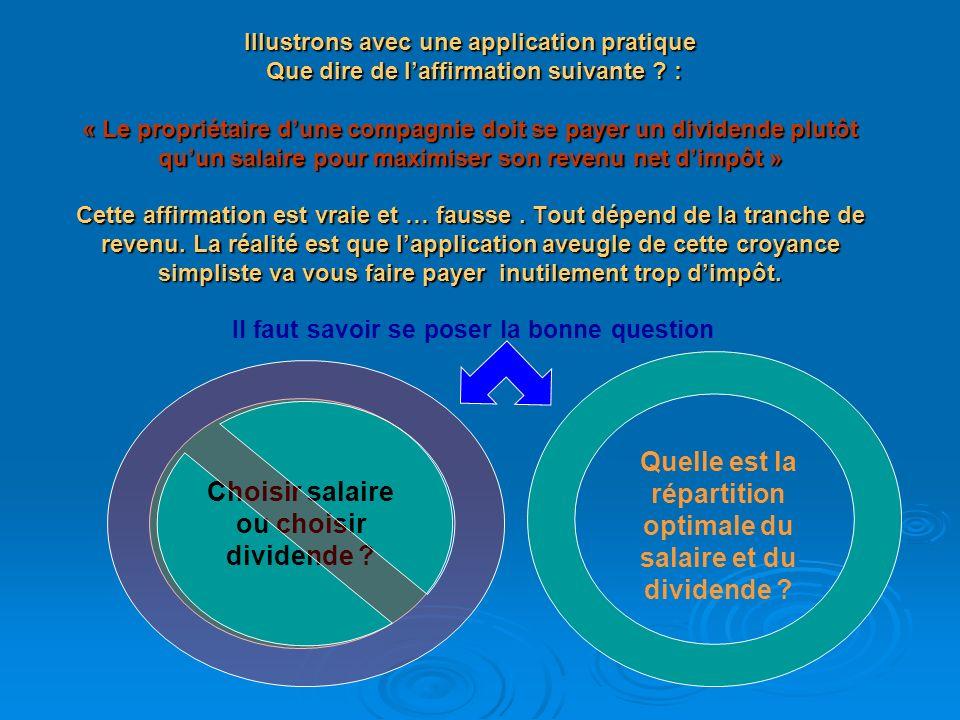 Pour un revenu net égal, il faut remplacer un maximum dimpôt à payer par des contributions à la RRQ.