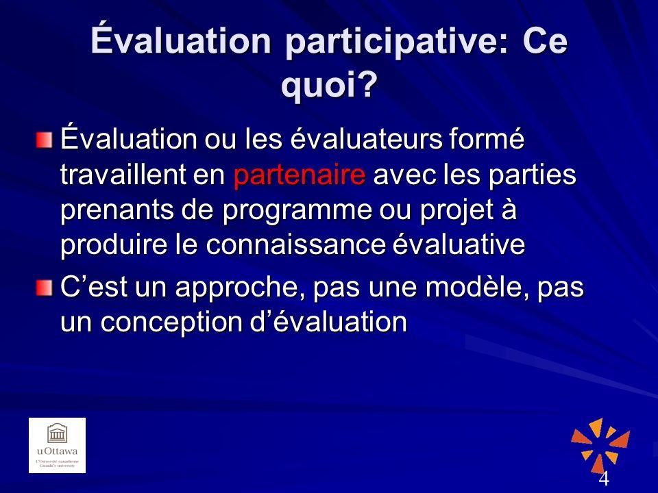 Évaluation participative: Ce quoi.