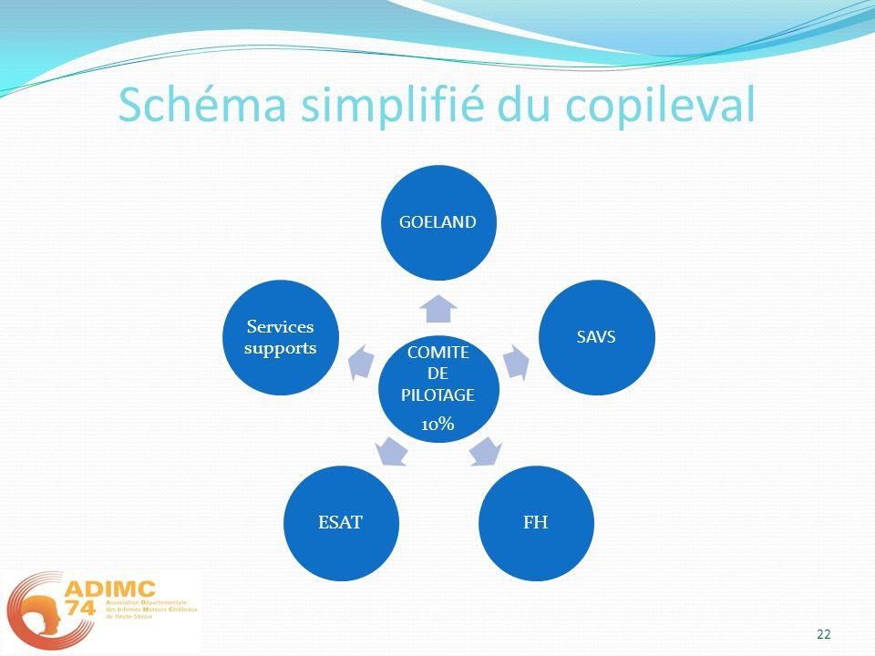 Schéma simplifié du copileval COMITE DE PILOTAGE 10% GOELANDSAVSFHESAT Services supports 22