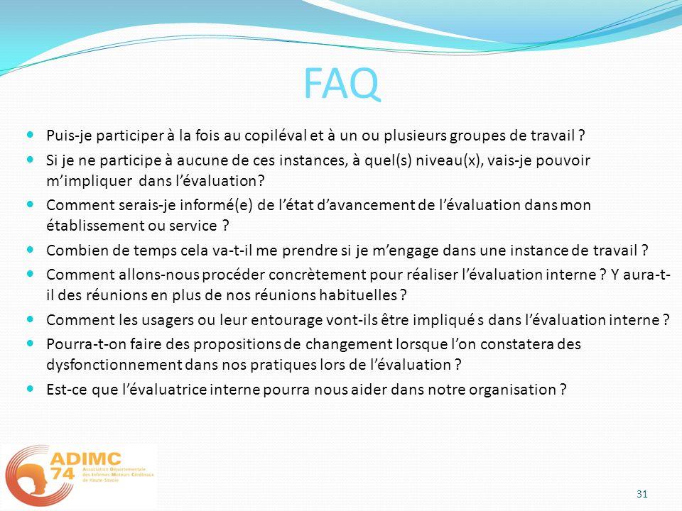 FAQ Puis-je participer à la fois au copiléval et à un ou plusieurs groupes de travail ? Si je ne participe à aucune de ces instances, à quel(s) niveau