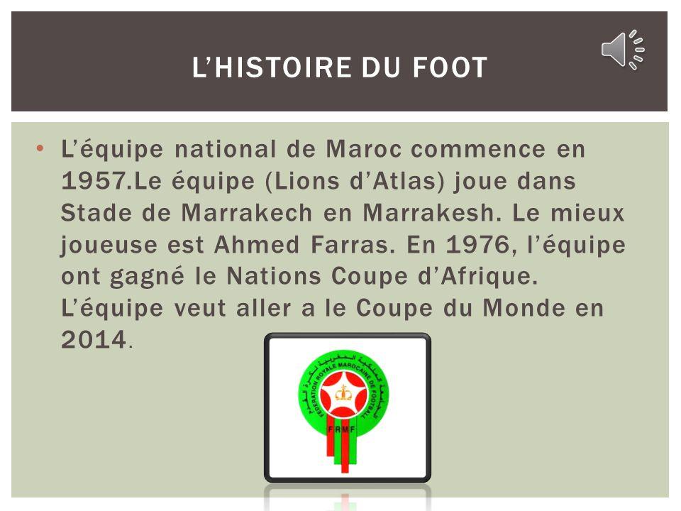 Maroc est tres sportif et les gens sont tres enthousiaste. Au Maroc, on joue beaucoup des sports. Par exemple, ils jouent le foot, le handball, et le