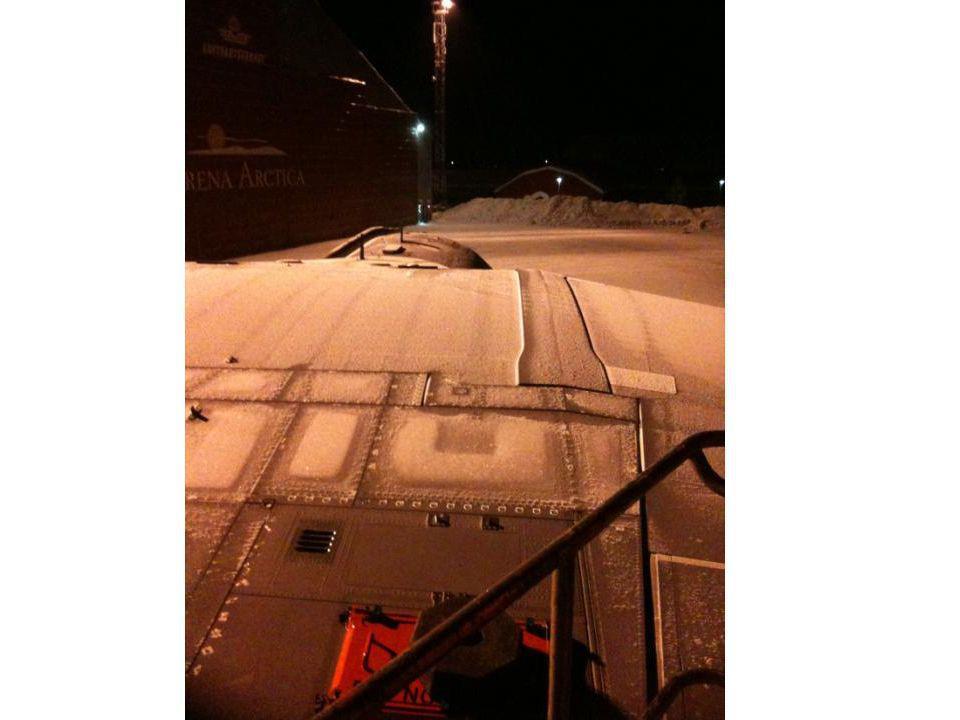Deuxième nuit FTI off, portes paratrooper ouvertes et porte accès avion ouverte Dépose batteries IN et FTI, modules ADIS, imprimantes, etc…… T° nuit -