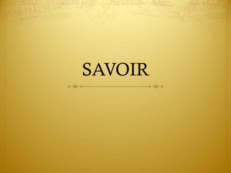 SAVOIR