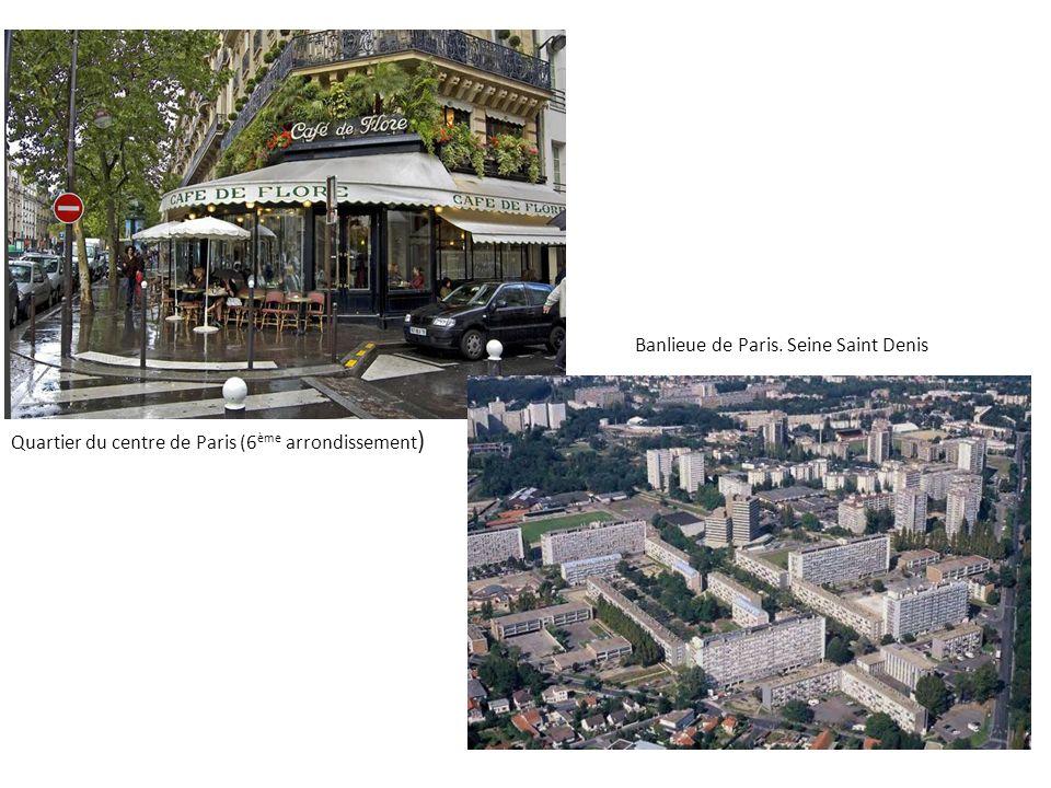 Quartier du centre de Paris (6 ème arrondissement ) Banlieue de Paris. Seine Saint Denis