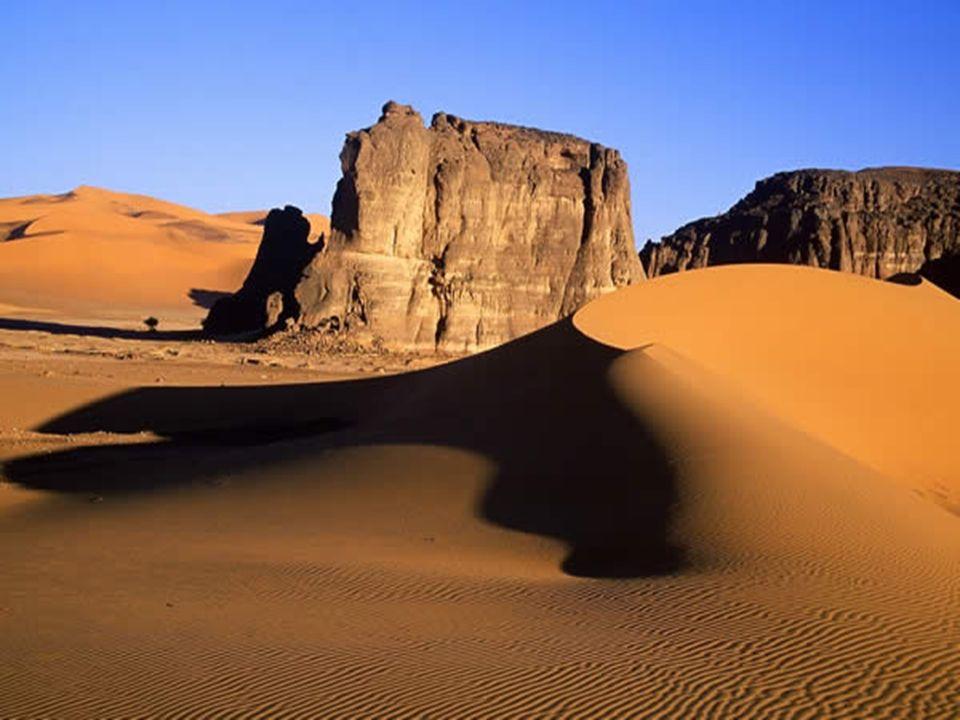 Dunes à lassaut du Grès Pendant des millions dannées, le sol du Tassili nAjjer a été raviné par les eaux.