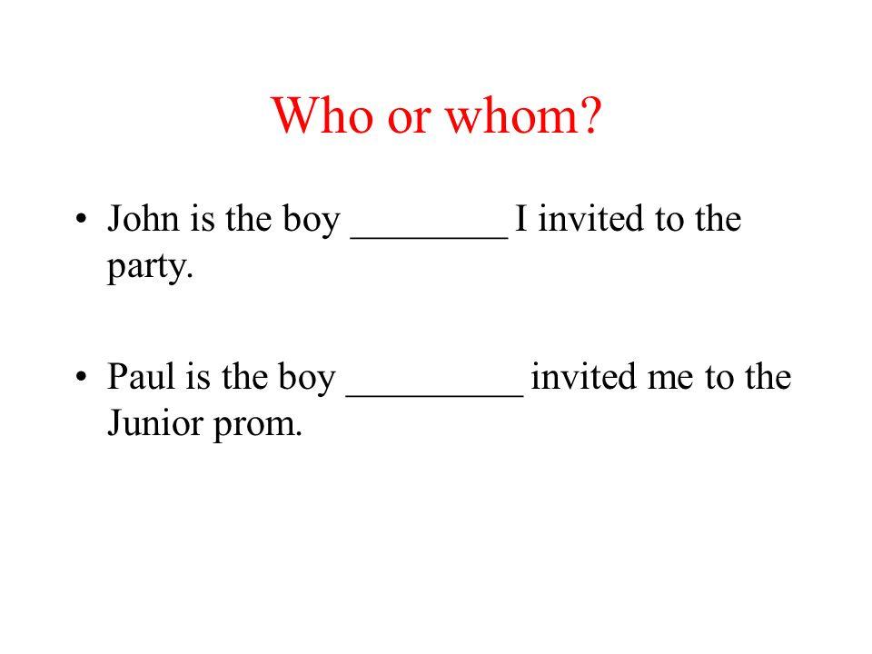 Les pronoms relatifs Qui ou que?