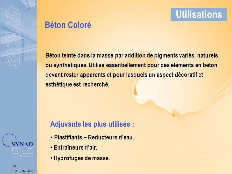 Édition 07/2002 107 Applications Béton Coloré Utilisations Arch. : Cabinet Domingo