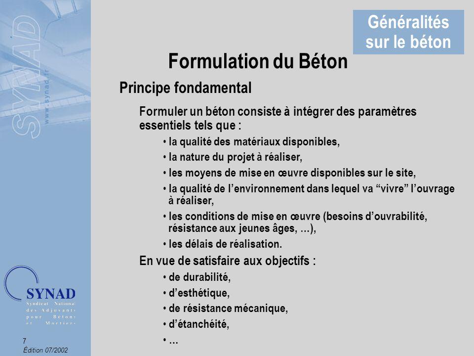 Édition 07/2002 8 Le Ciment