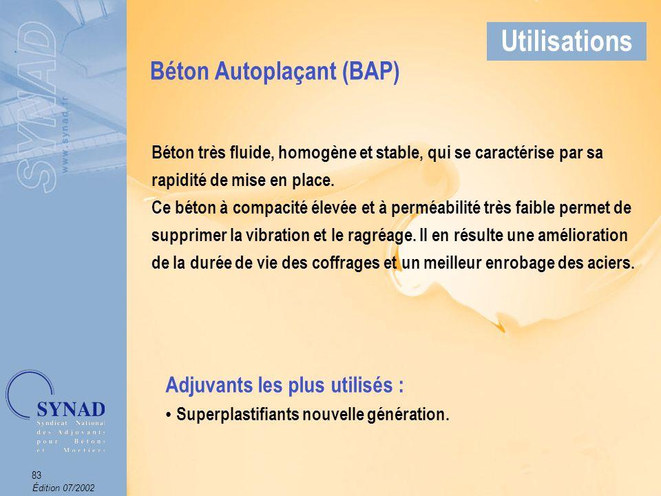 Édition 07/2002 84 Applications Béton Autoplaçant Utilisations Arch. : Ripault