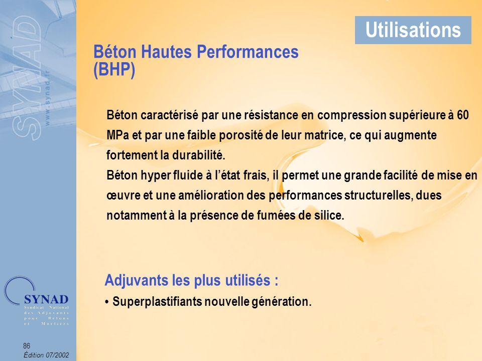 Édition 07/2002 87 Applications Béton Hautes Performances Arch.
