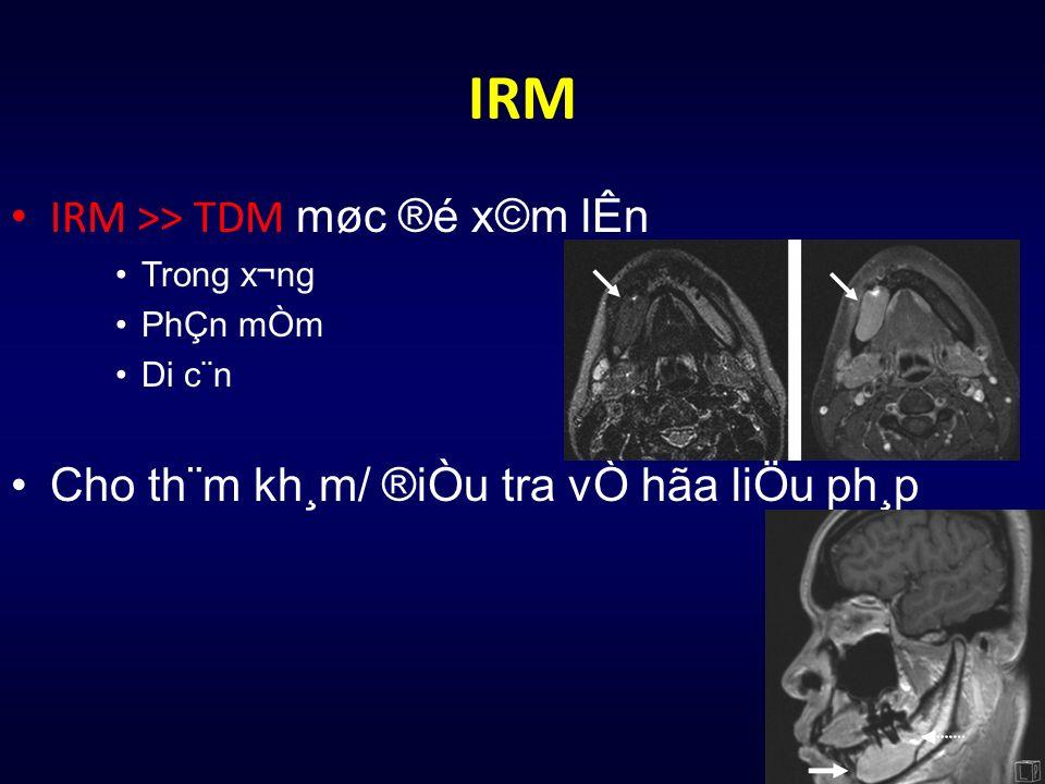 IRM IRM >> TDM møc ®é x©m lÊn Trong x¬ng PhÇn mÒm Di c¨n Cho th¨m kh¸m/ ®iÒu tra vÒ hãa liÖu ph¸p