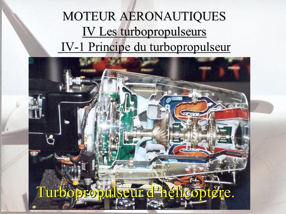 MOTEUR AERONAUTIQUES IV Les turbopropulseurs MOTEUR AERONAUTIQUES IV Les turbopropulseurs IV-1 Principe du turbopropulseur Turbopropulseur dhélicoptèr