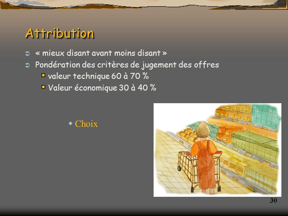 31 AttributionAttribution Publication des résultats au JOUE et BOAMP Notification des marchés (= approbation par la DDASS ) Début du marché le jour de la date de notification