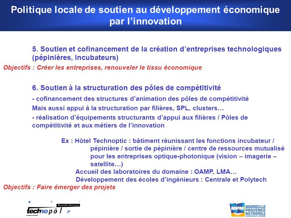 Politique locale de soutien au développement économique par linnovation 5.
