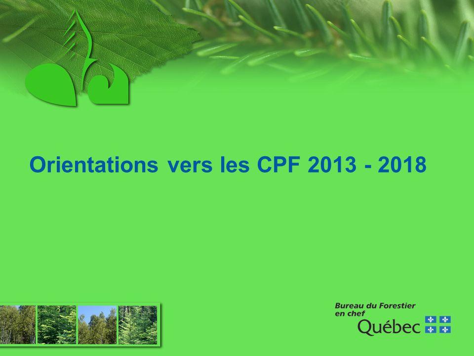 Orientations vers les CPF 2013 - 2018