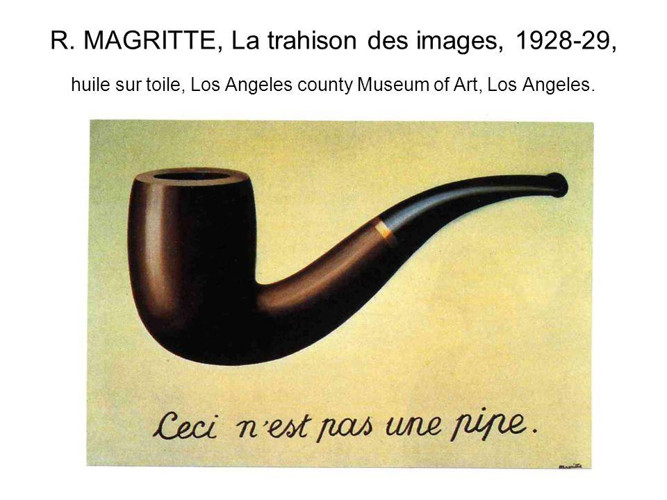 R. MAGRITTE, La trahison des images, 1928-29, huile sur toile, Los Angeles county Museum of Art, Los Angeles.