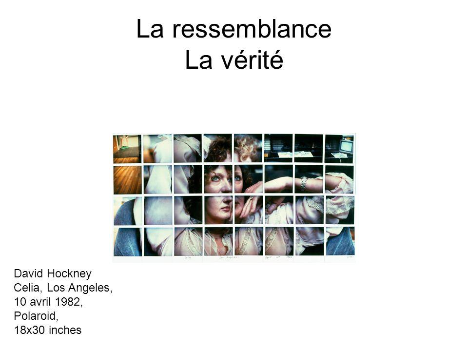 La ressemblance La vérité David Hockney Celia, Los Angeles, 10 avril 1982, Polaroid, 18x30 inches
