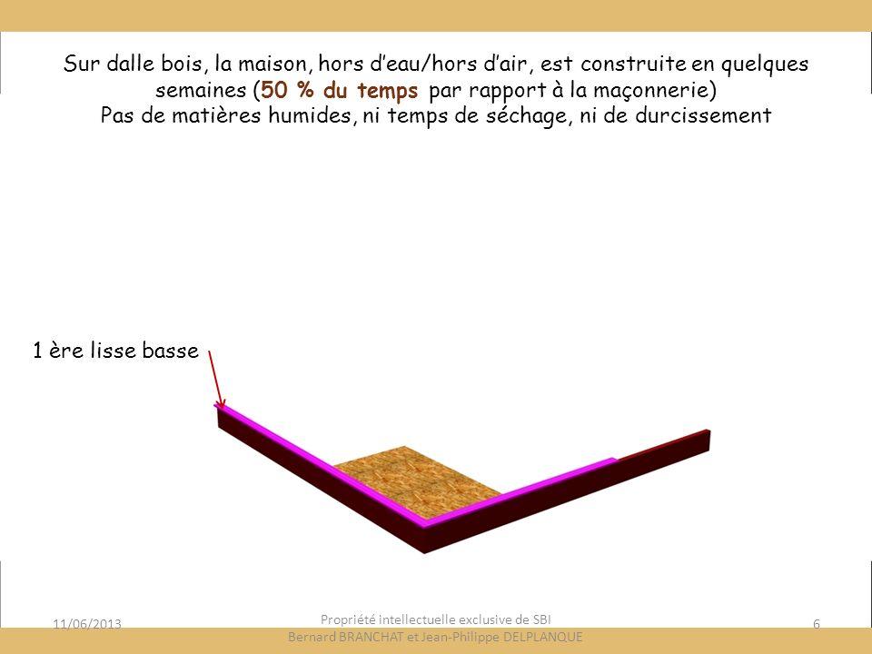 11/06/201317 Propriété intellectuelle exclusive de SBI Bernard BRANCHAT et Jean-Philippe DELPLANQUE Lattage vertical Pour vêtures extérieures Façade ventilée