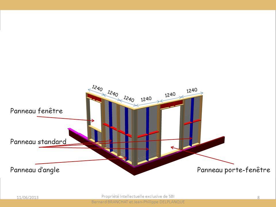 11/06/20138 Propriété intellectuelle exclusive de SBI Bernard BRANCHAT et Jean-Philippe DELPLANQUE Panneau fenêtre Panneau standard Panneau danglePanneau porte-fenêtre