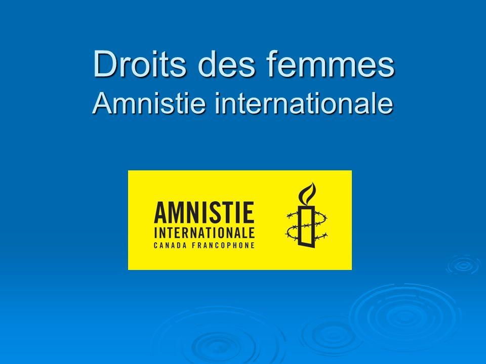 Droits des femmes Amnistie internationale Droits des femmes Amnistie internationale