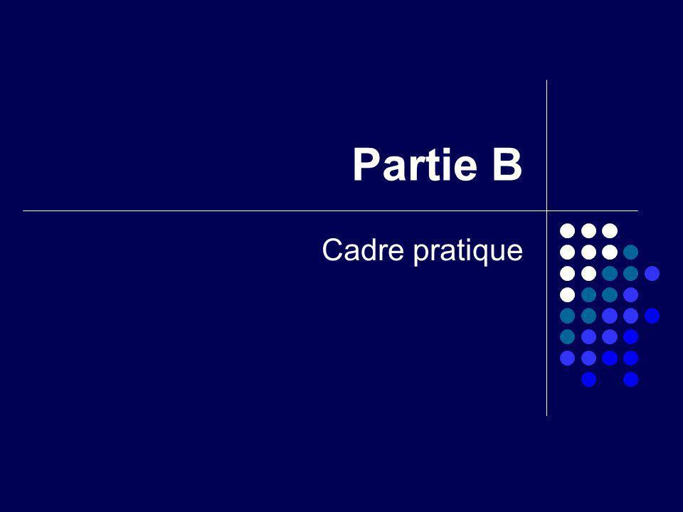 Partie B Cadre pratique