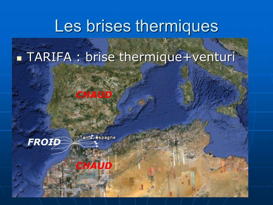 Les brises thermiques TARIFA : brise thermique+venturi TARIFA : brise thermique+venturi FROID CHAUD