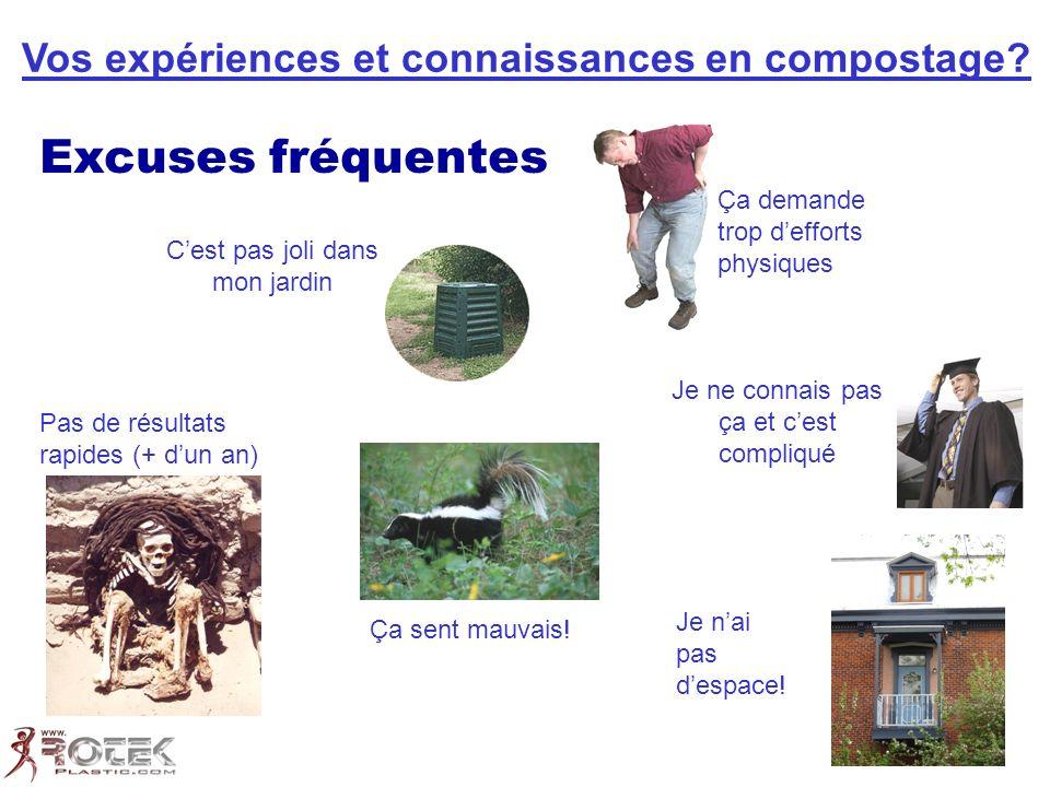 Vos expériences et connaissances en compostage.