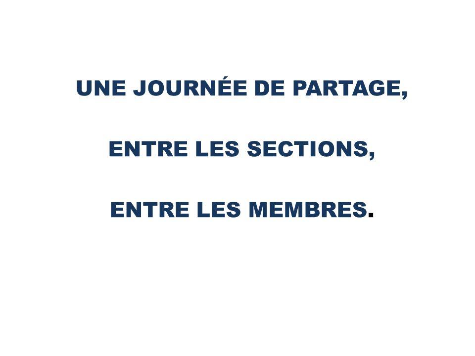 UNE JOURNÉE DE PARTAGE, ENTRE LES SECTIONS, ENTRE LES MEMBRES.