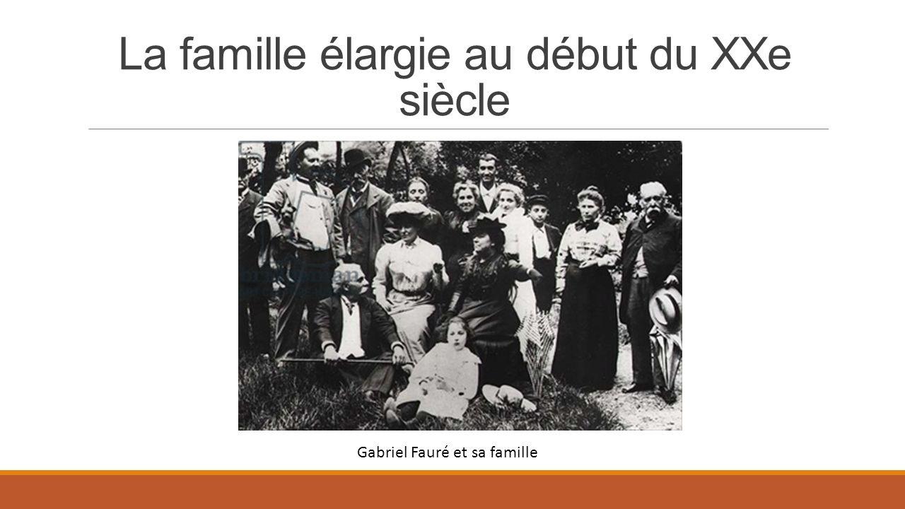 La famille élargie au début du XXe siècle Gabriel Fauré et sa famille