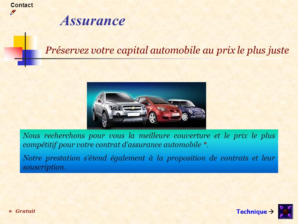 Nous recherchons pour vous la meilleure couverture et le prix le plus compétitif pour votre contrat d'assurance automobile *. Notre prestation s'étend