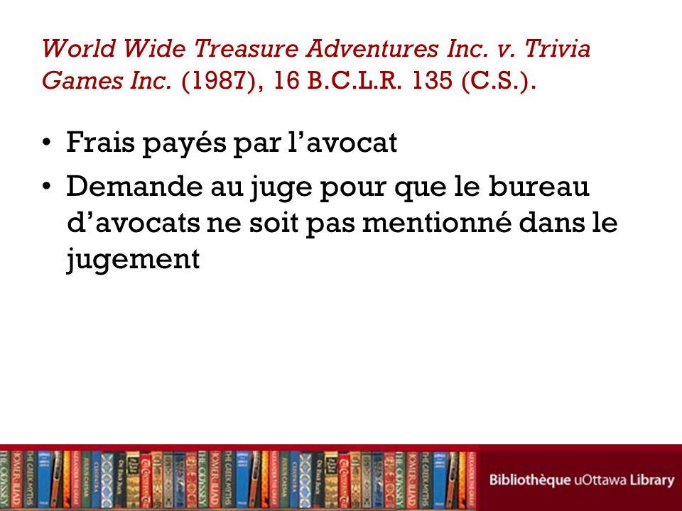 World Wide Treasure Adventures Inc.v. Trivia Games Inc.