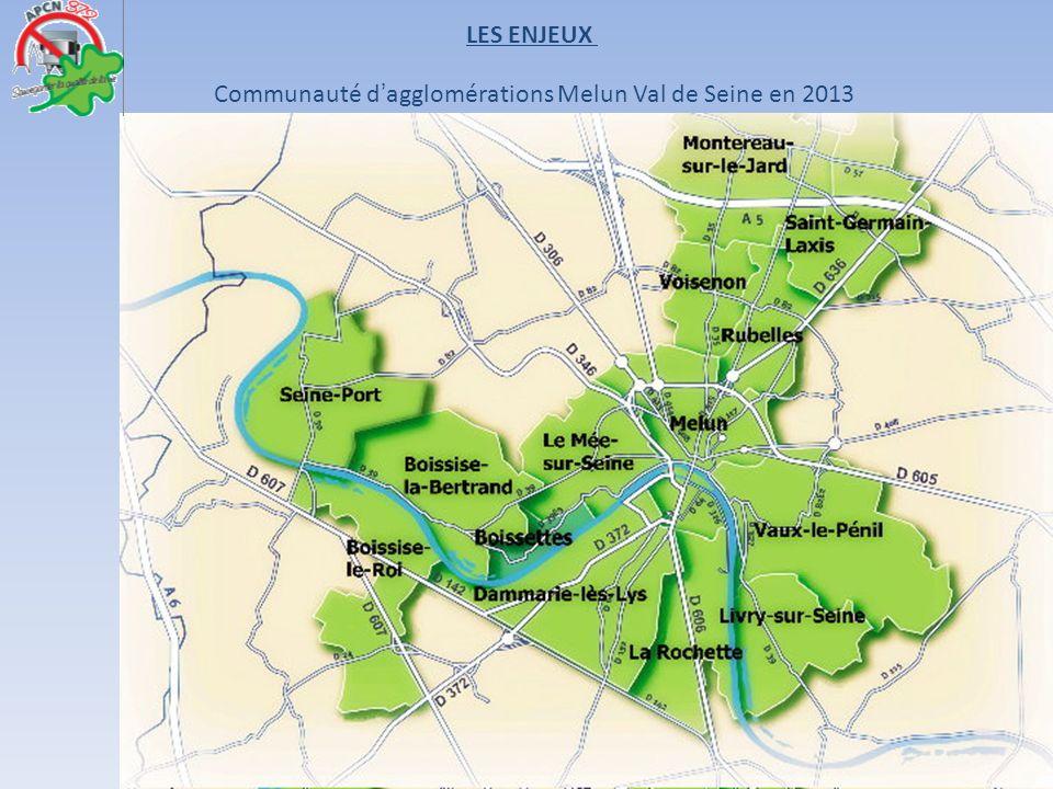 Communauté dagglomérations Melun Val de Seine en 2013 LES ENJEUX