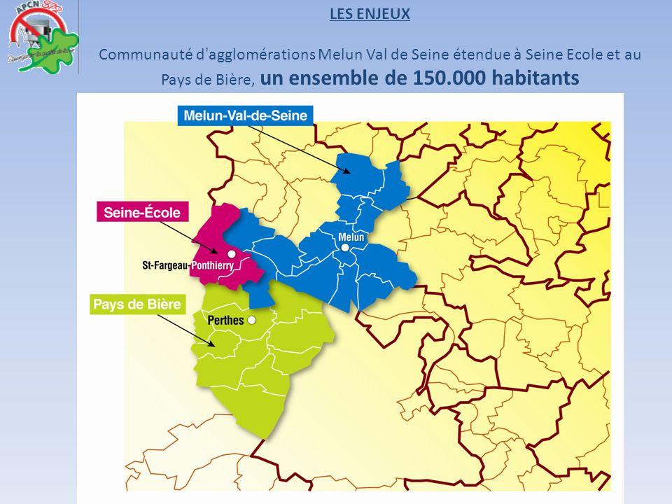 Communauté dagglomérations Melun Val de Seine étendue à Seine Ecole et au Pays de Bière, un ensemble de 150.000 habitants