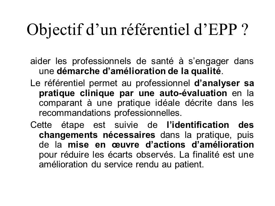 Objectif dun référentiel dEPP .