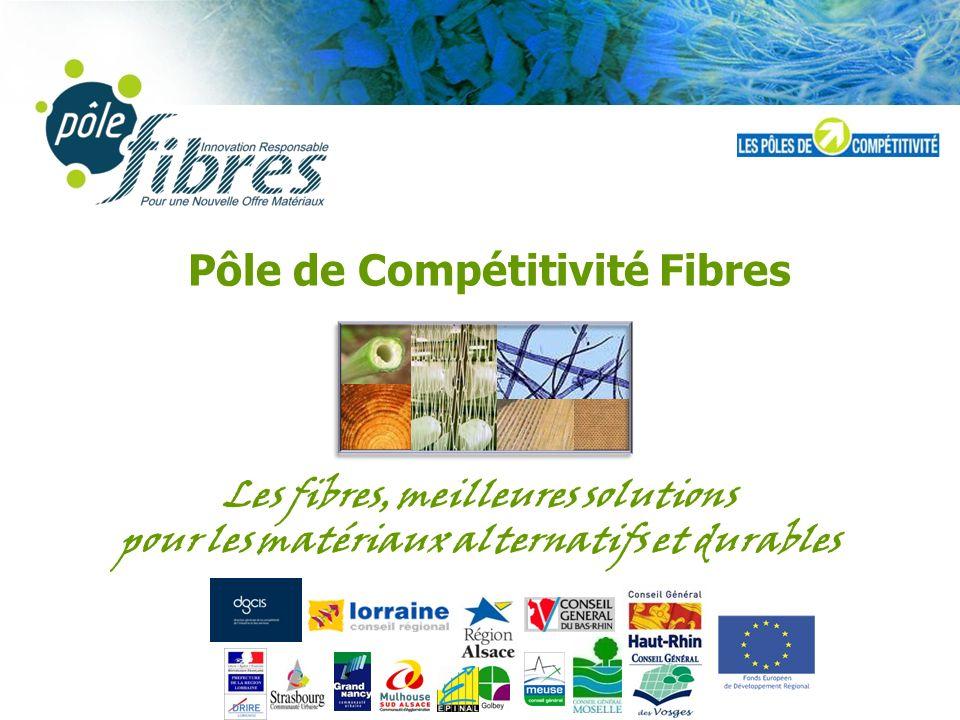 Pôle de Compétitivité Fibres Les fibres, meilleures solutions pour les matériaux alternatifs et durables