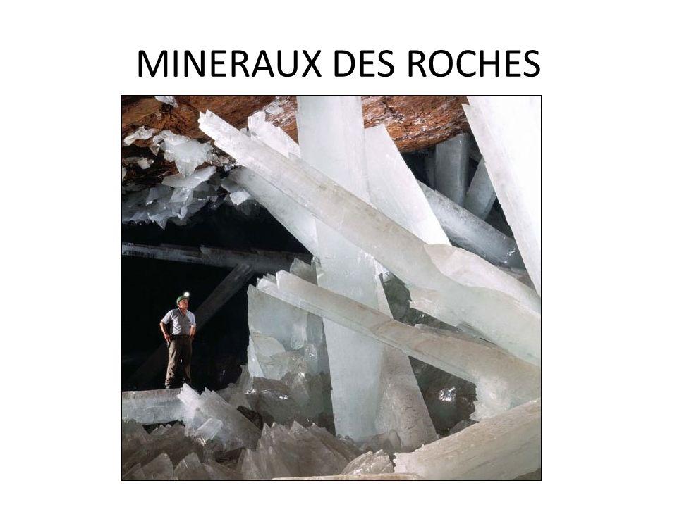 MINERAUX DES ROCHES Silicates Tous les silicates possèdent une structure de base composée des ions Si et O²¯ Dans les minéraux les charges doivent être neutres.