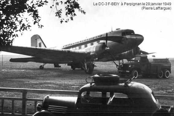 Le DC-3 F-BEIY à Perpignan le 28 janvier 1949 (Pierre Laffargue)