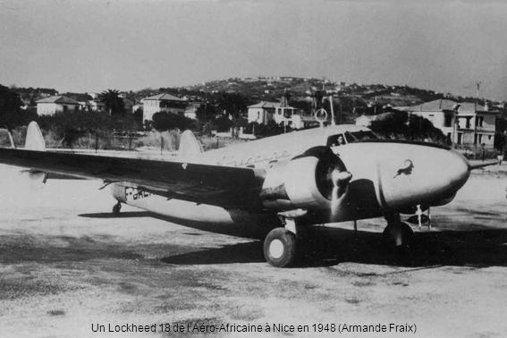 Un Lockheed 18 de lAéro-Africaine à Nice en 1948 (Armande Fraix)