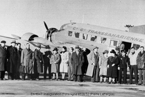 En 1949, chargement de carcasses de moutons dans un DC-3 à Paul-Cazelles (Aïn-Oussera) chez Auguste Batailler (Pierre Laffargue)