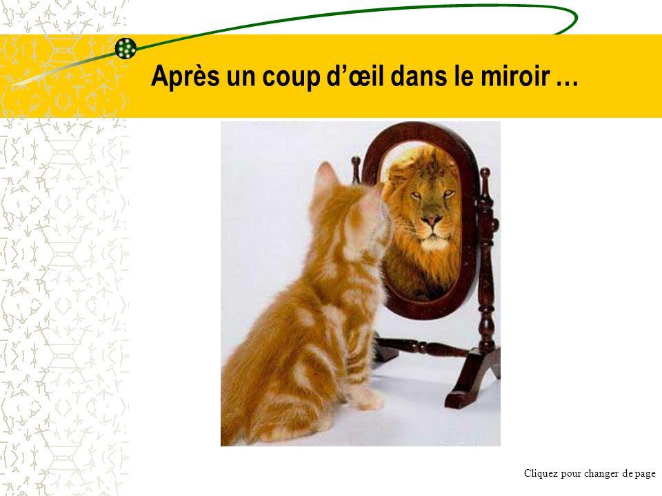 Après un coup dœil dans le miroir … Cliquez pour changer de page