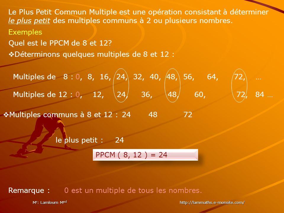 lusetit ommun ultiple P PC MP PCM M r : Lamloum M ed http://lammaths.e-monsite.com/