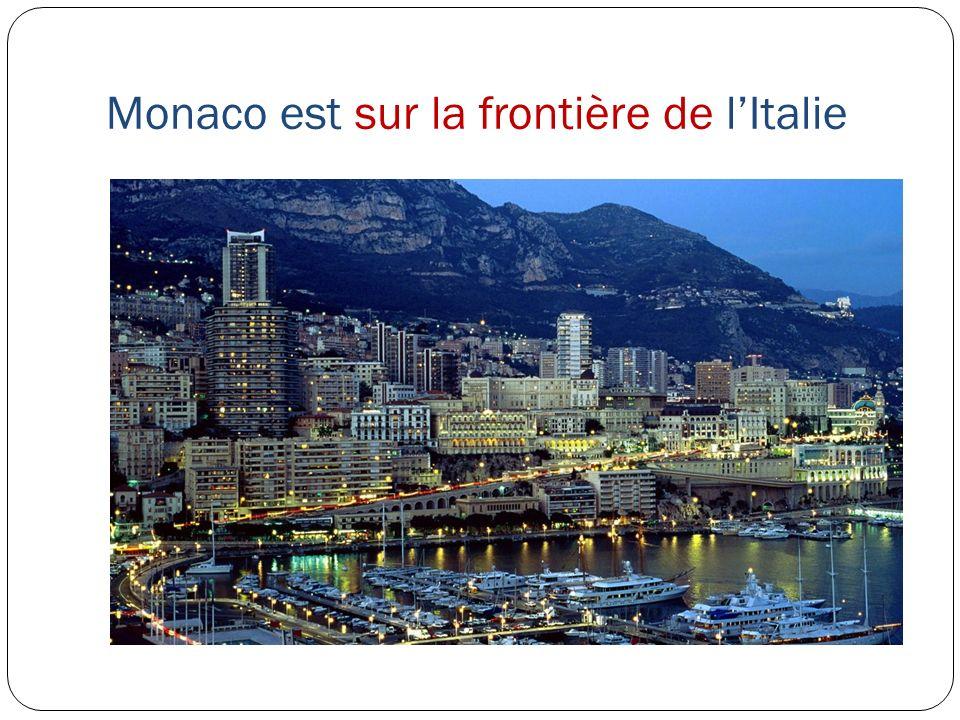 Monaco est sur la frontière de lItalie