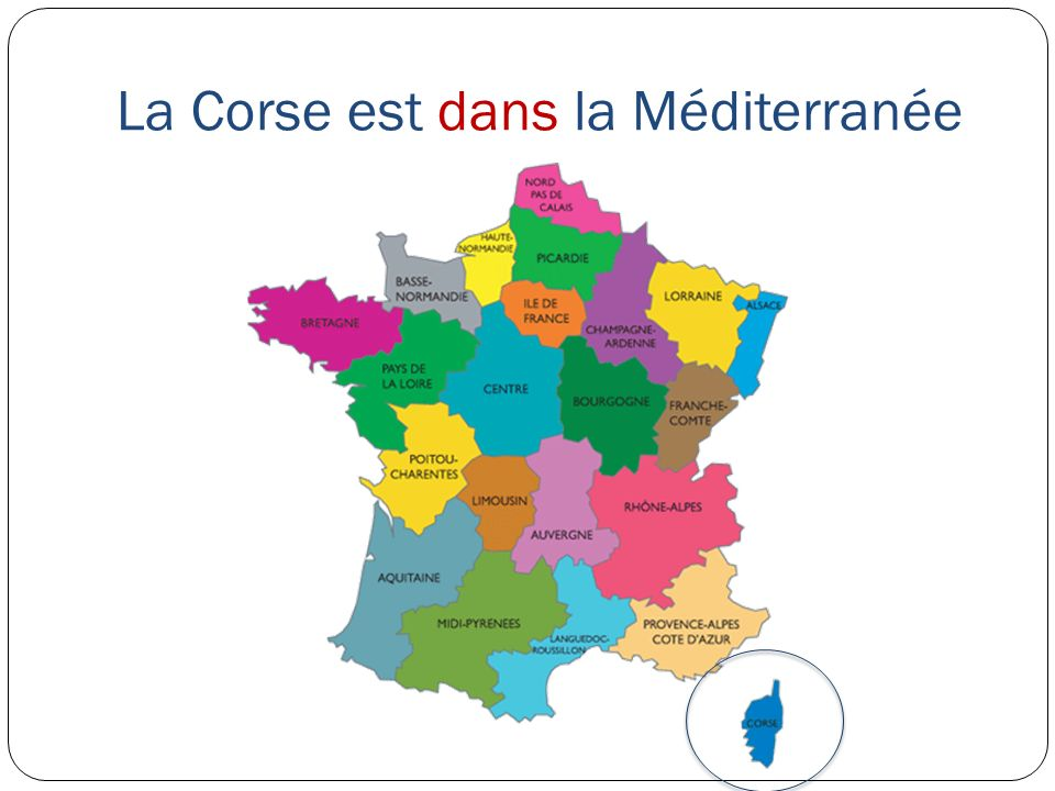 La Corse est dans la Méditerranée