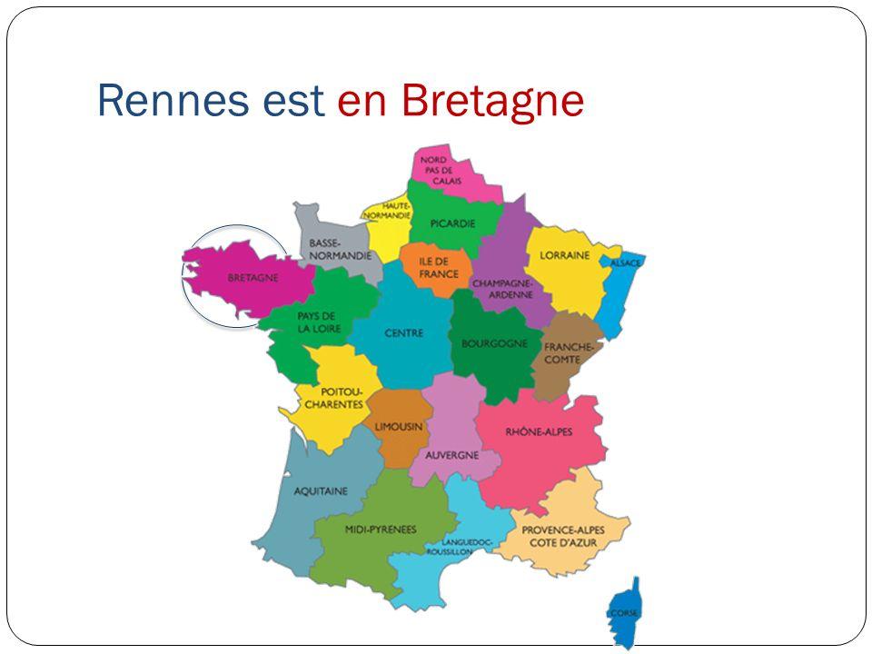 Bordeaux est à louest de la France