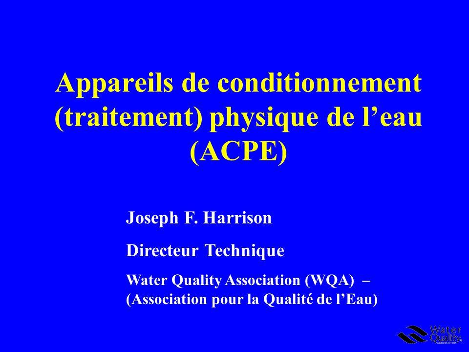 Définitions de la WQA Développées par le Groupe de travail de la WQA sur les définitions de leau douce/les adoucisseurs deau 25 mars 2008 Eau douce – une eau qui contient moins de 1,0 grain par gallon (gr/gal) (<17.1mg /L) de dureté totale exprimée en CaCO 3.