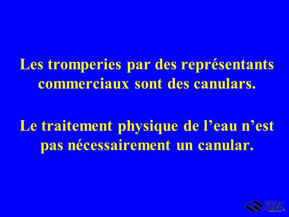 Conclusions 1 Les appareils de conditionnement (traitement) physique de leau (ACPE) ne sont pas des adoucisseurs deau.