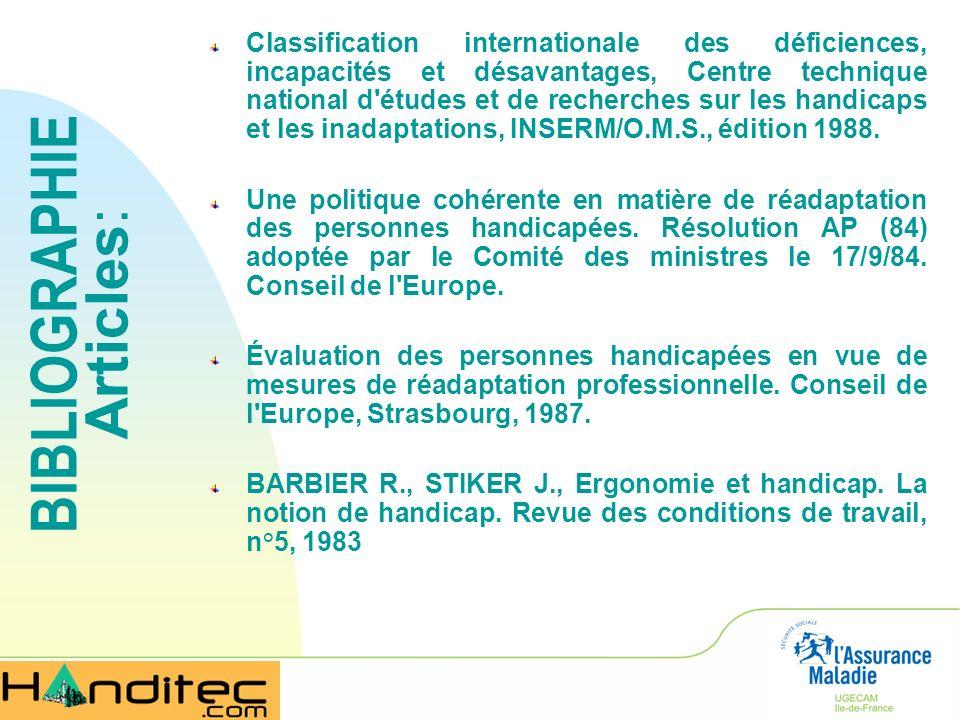 Classification internationale des déficiences, incapacités et désavantages, Centre technique national d'études et de recherches sur les handicaps et l